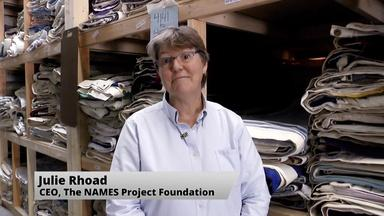 Web Extra: Inside the AIDS Quilt Warehouse