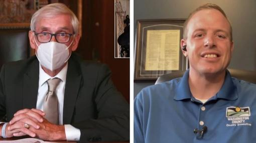 Here and Now : Evers Mandates Masks; Washington County Executive Opposes
