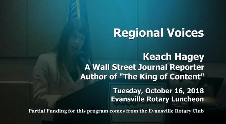 Evansville Rotary Club: Regional Voices: Keach Hagey, Wall Street Journal Reporter