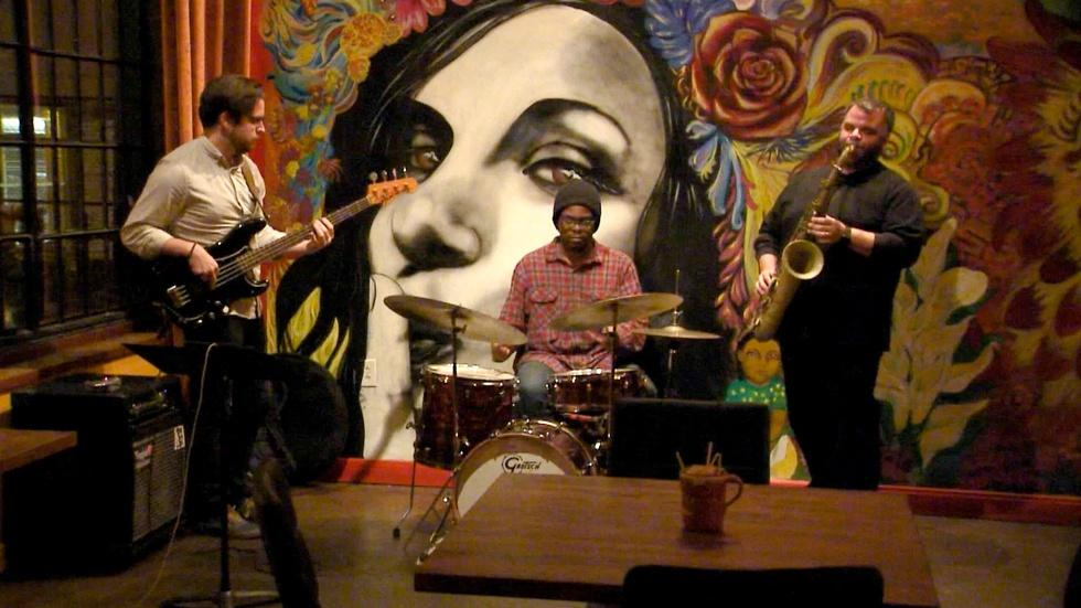 Saxophonist Charles Owens; Sidetracks Music Store (#1012) image