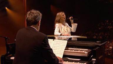 "Celine Dion sings ""Because You Loved Me"""