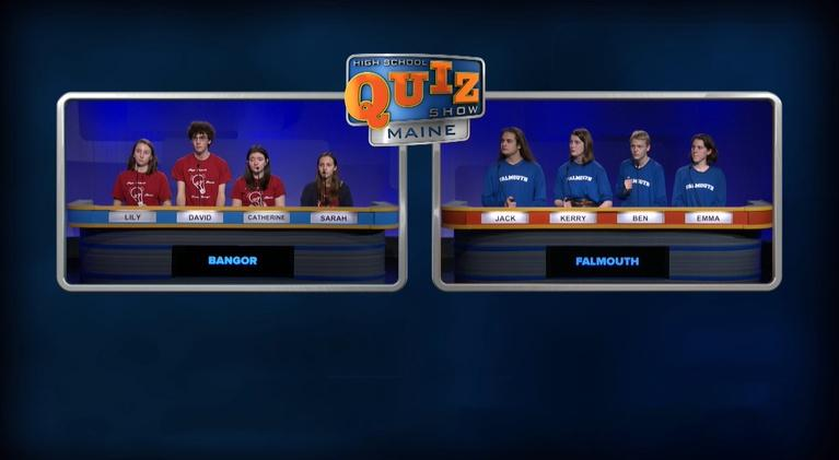 High School Quiz Show: Maine: Bangor vs. Falmouth - Episode 215