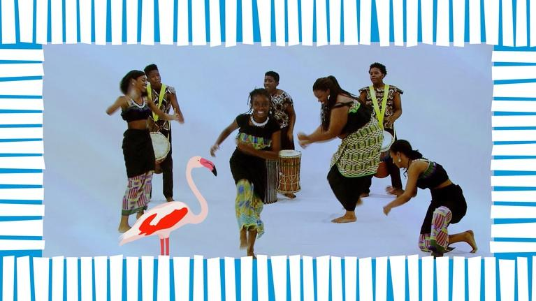 rootle: Collage Dance Company Teaches Rootle about African Dance!