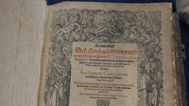 "Appraisal: 1586 Mattioli German Ed. ""Herbal"" Book"