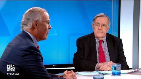 PBS NewsHour -- Shields and Brooks on Las Vegas debate, Trump's pardons