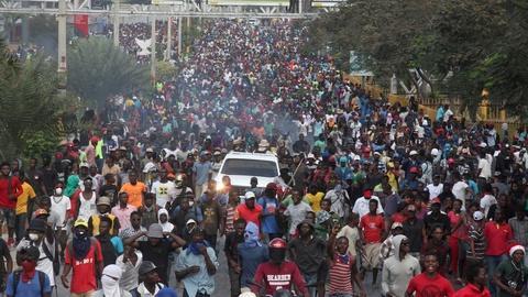 PBS NewsHour -- Violent protests in Haiti may mean a humanitarian crisis