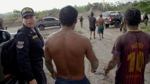 Earth Focus -- Environmental Police Raids Illegal Gold Mine in Peru