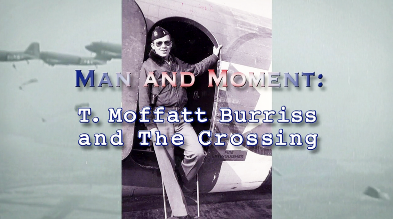 Man and Moment | T. Moffatt Burriss and the Crossing logo
