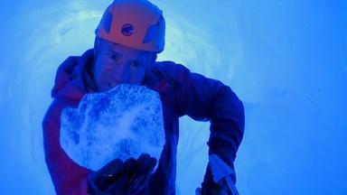 Climbing Inside a Glacier