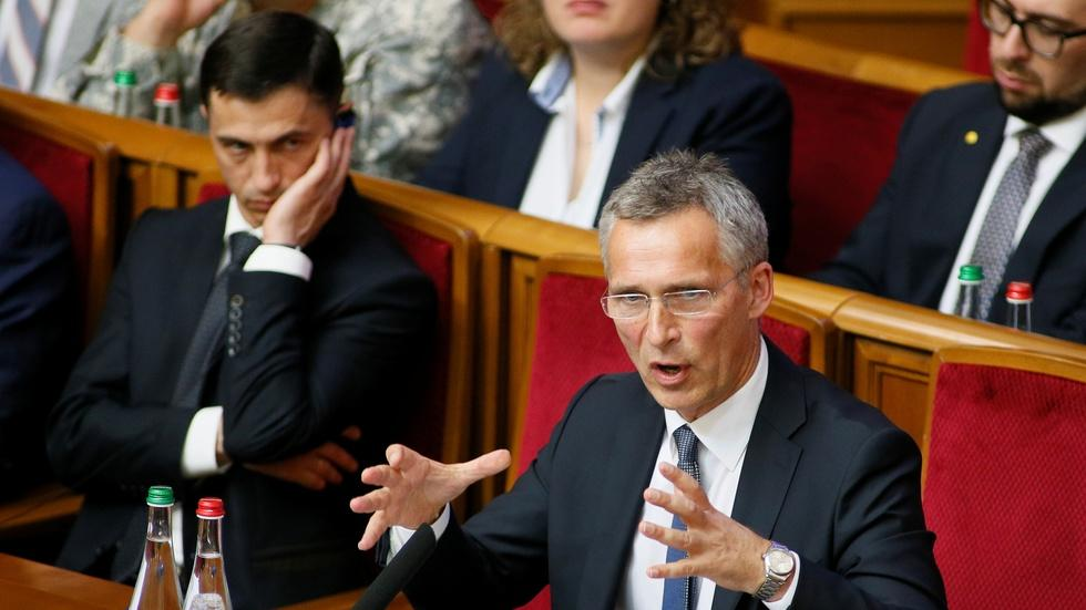 News Wrap: NATO chief demands Russian troops leave Ukraine image