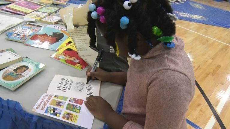 NJTV News: Trenton students receive thousands of free books