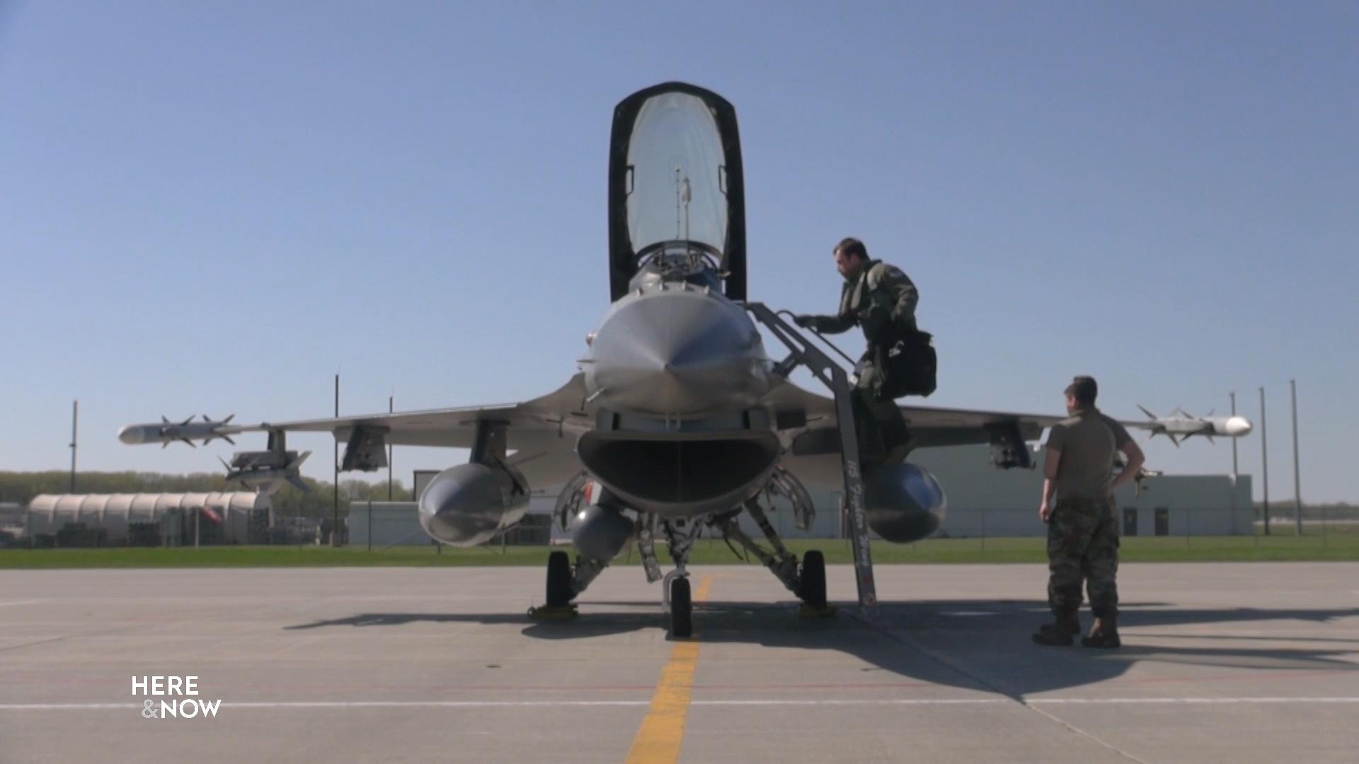 F-16 Flyovers Salute Health Care Workers, First Responders