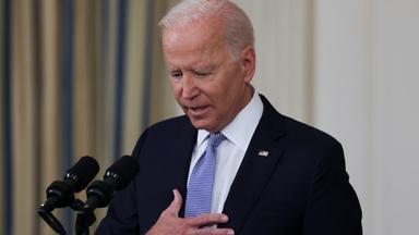 Biden again urges Congress to pass 2 major bills