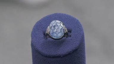 Appraisal: Cartier Carved Sapphire Ring, ca. 1925
