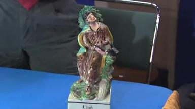 Appraisal: English Pottery Elijah Figurine, ca. 1807