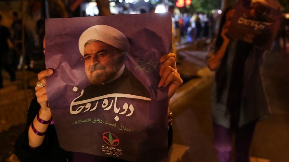 Iran re-elects President Hassan Rouhani image