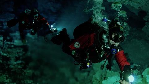 Cave Divers Explore the Yucatan's Underwater World
