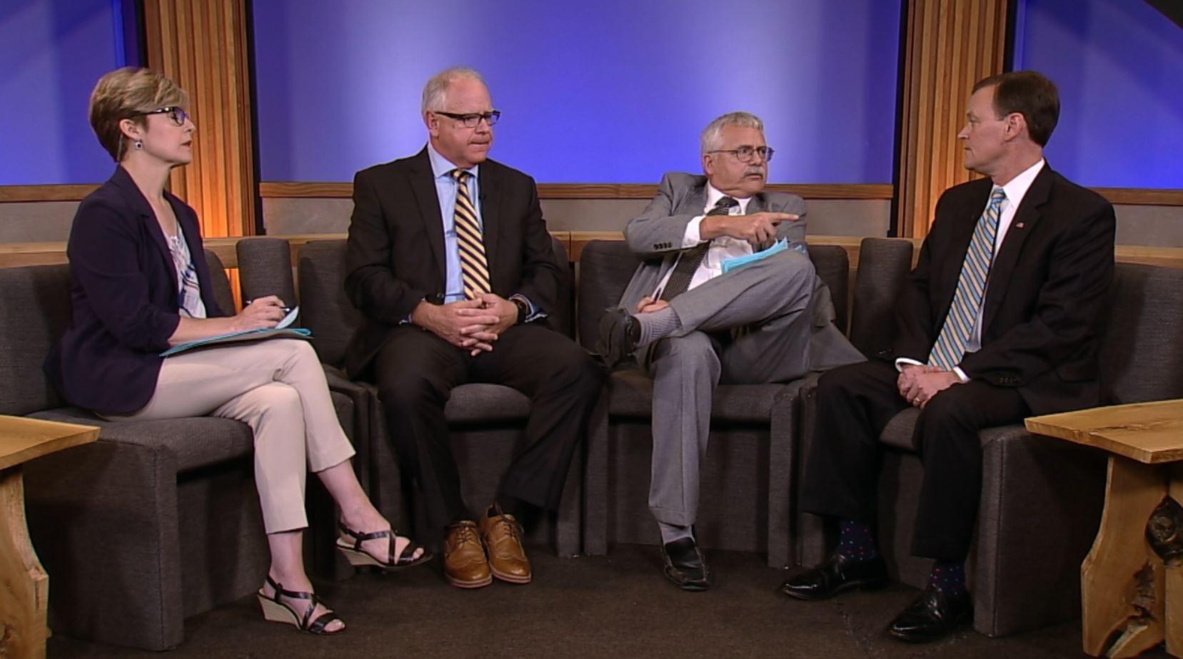 Jeff Johnson + Tim Walz in the first post-primary TV debate