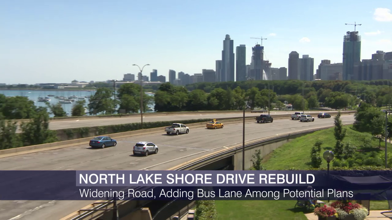 Planners Consider Bus-Only Lane on Lake Shore Drive