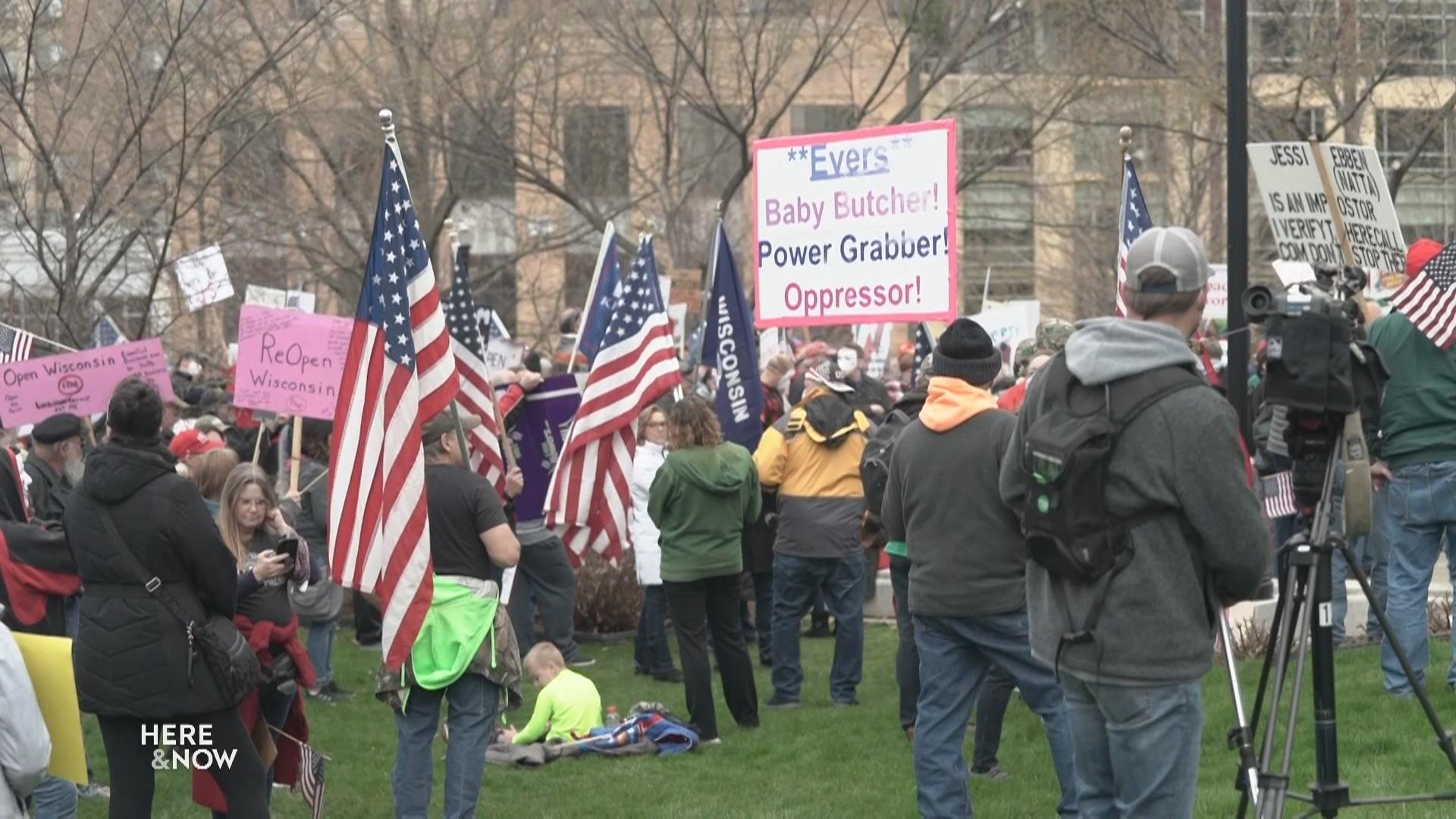 1,500 Rally at the State Capitol to Reopen Wisconsin