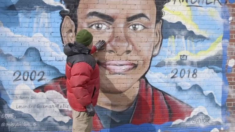 PBS NewsHour: Mural highlights Bronx teen's death from gang violence