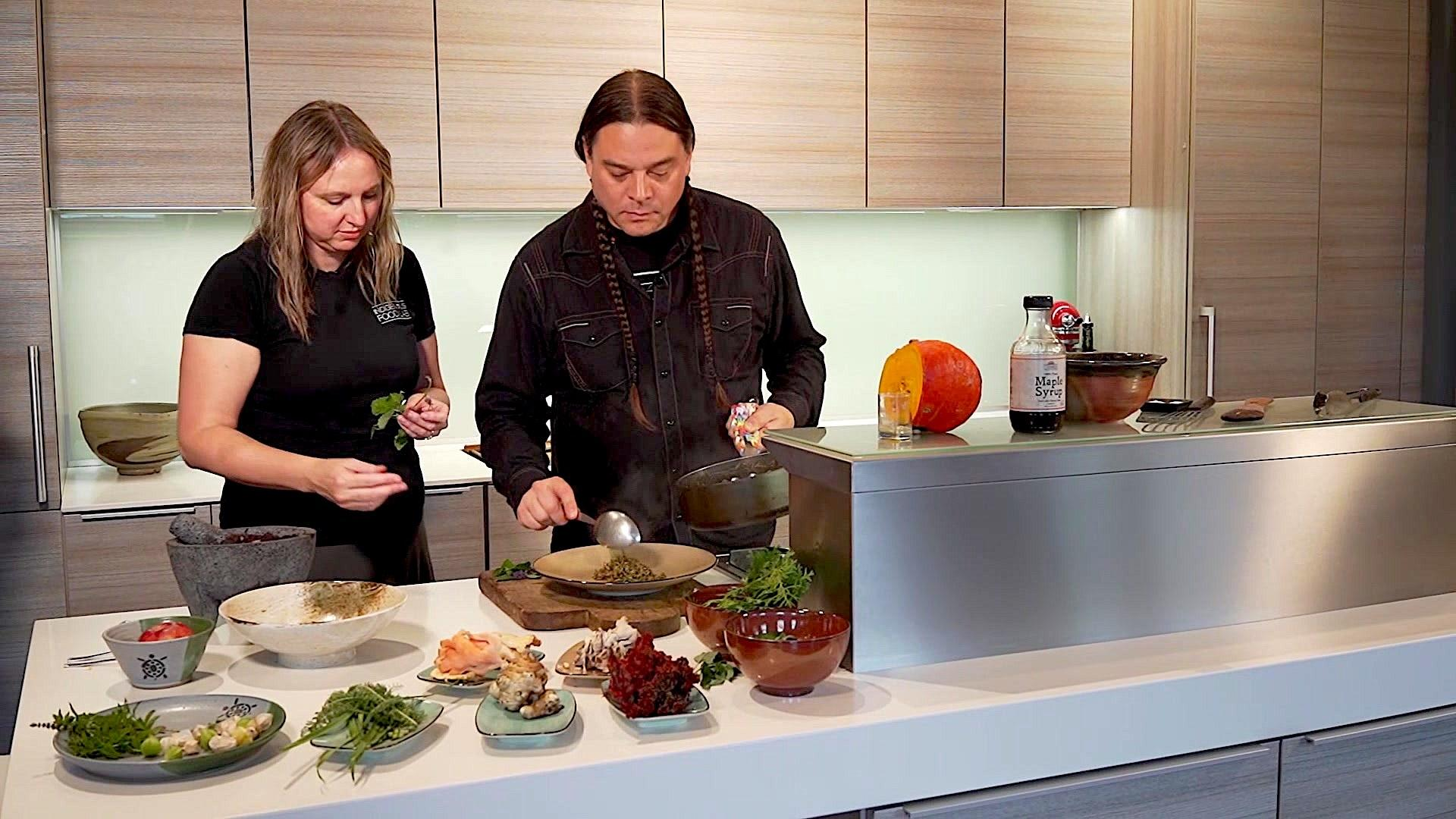 Traditional Native foods are the Sioux Chef's key