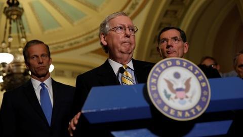 PBS NewsHour -- Lacking enough GOP votes, Senate pushes back health bill
