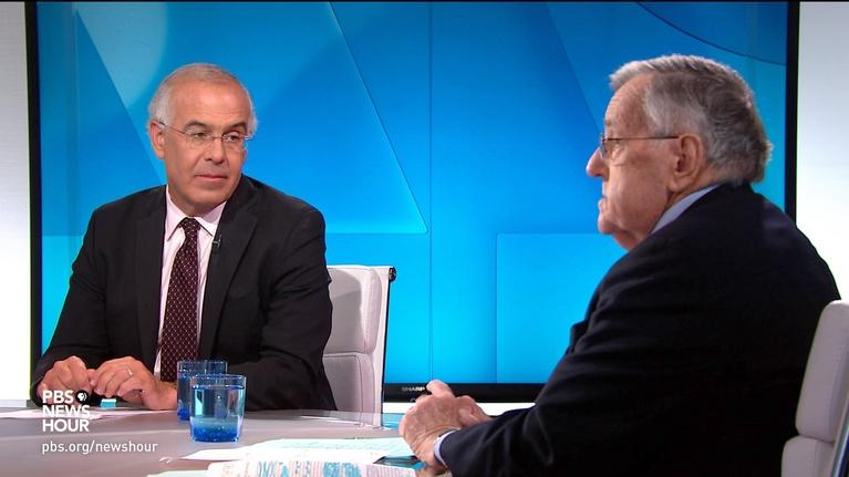 PBS NewsHour: Shields and Brooks on Trump's attacks, Biden vs. Sanders