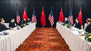 Despite strong words, U.S., China label talks constructive