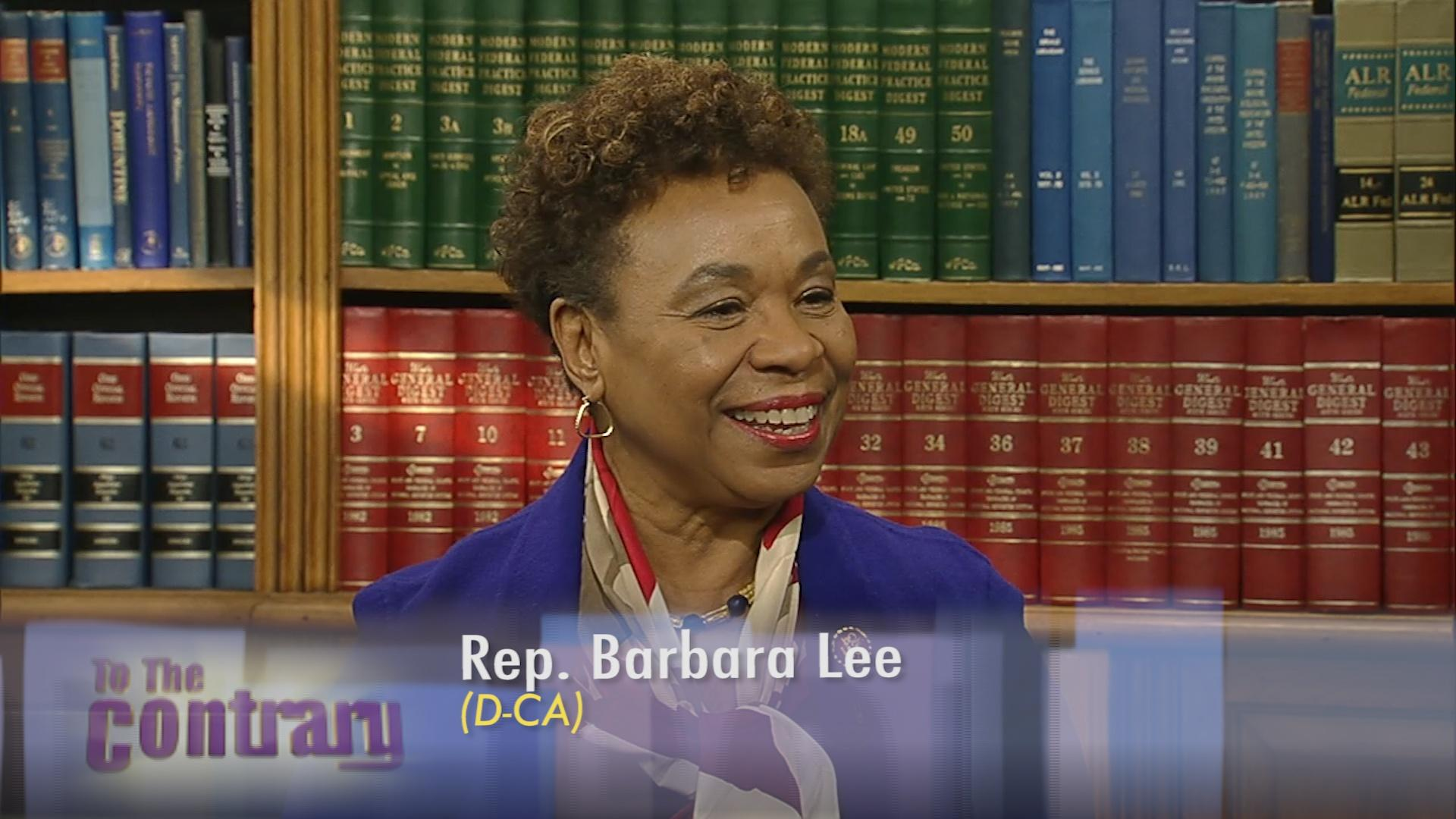 TTC Extra: Rep. Barbara Lee on Paycheck Fairness