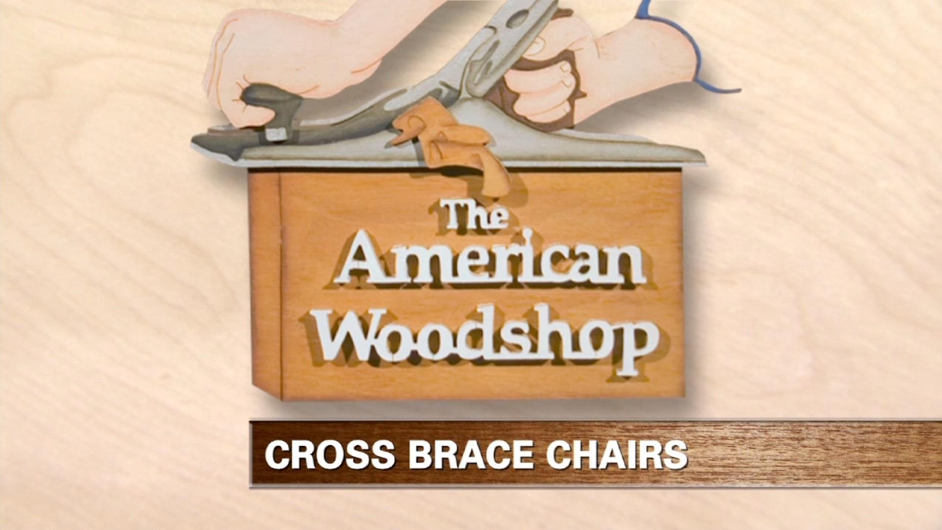 Remarkable American Woodshop Cross Brace Chair Web Extra Twin Interior Design Ideas Clesiryabchikinfo