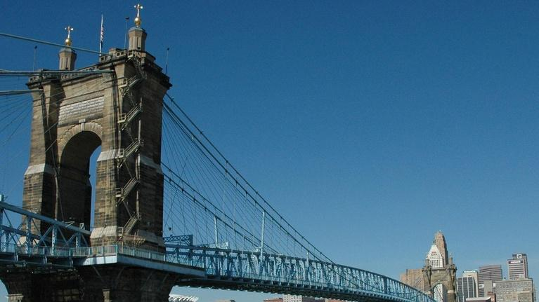 Cincinnati Snapshots: The John A. Roebling Suspension Bridge