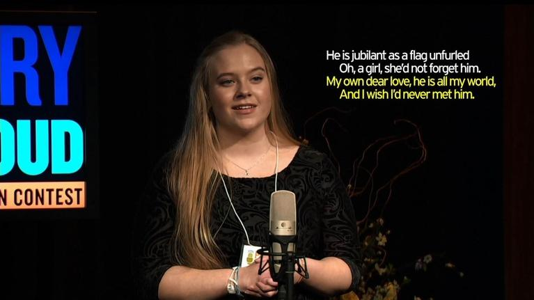 Vermont Poetry: Poetry Out Loud - Vermont Finals 2016