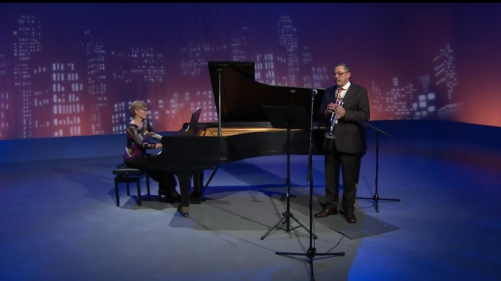 The Parsons-Sobkowska Duo Perform in the WFSU Studio image