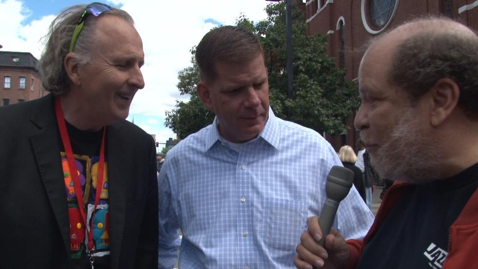 Eric Jackson with Mayor Walsh and Roger Brown at BBJF image