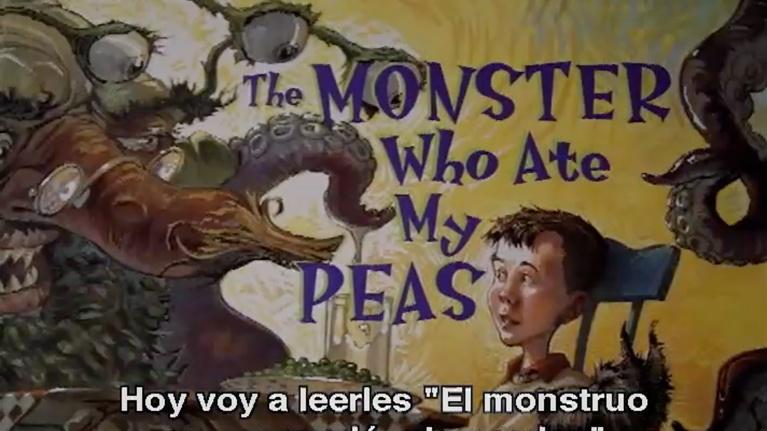 Georgia Read More: The Monster Who Ate My Peas (Espanol subs)