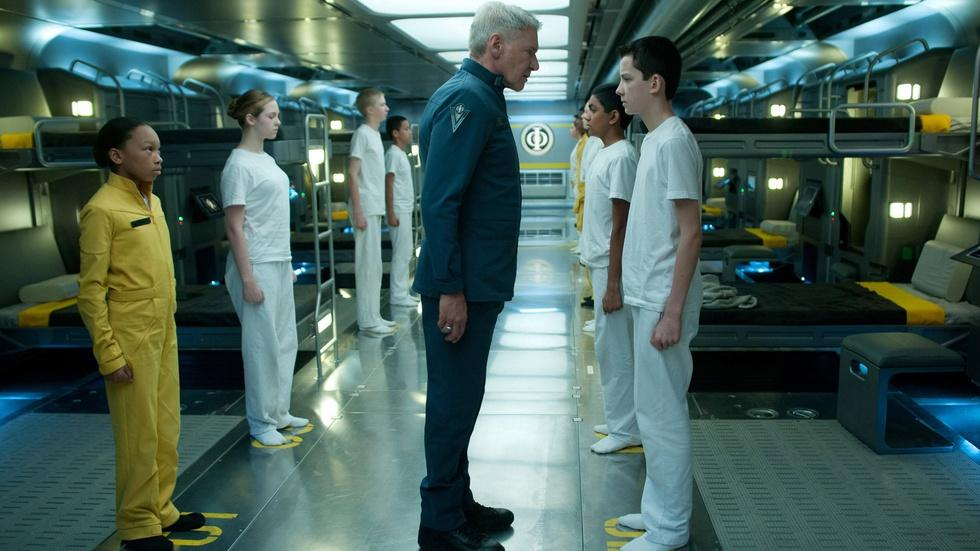 """Harrison Ford and Asa Butterfield for """"Enders Game"""" image"""