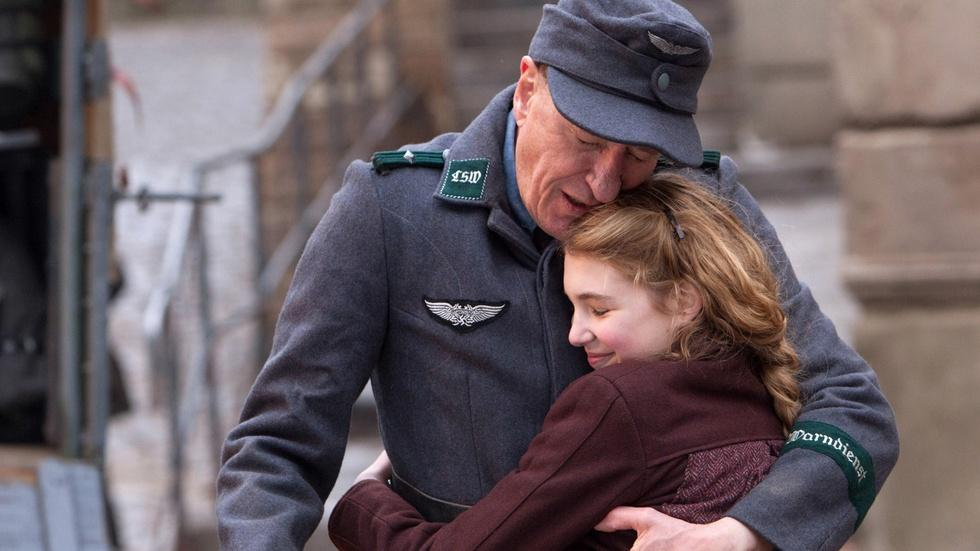 """Geoffrey Rush and Sophie Nelisse for """"The Book Thief"""" image"""