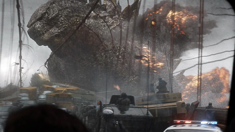 """Elizabeth Olsen and Aaron Taylor Johnson for """"Godzilla"""" image"""