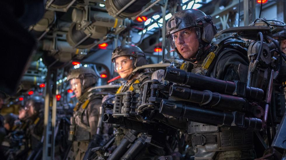 "Tom Cruise and Emily Blunt for ""Edge of Tomorrow"" image"