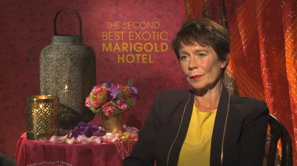 """Celia Imrie for """"Second Best Exotic Marigold Hotel"""" image"""