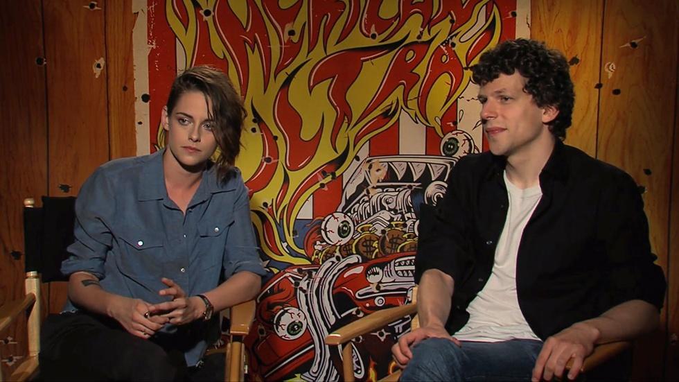 "Jesse Eisenberg and Kristen Stewart for ""American Ultra"" image"