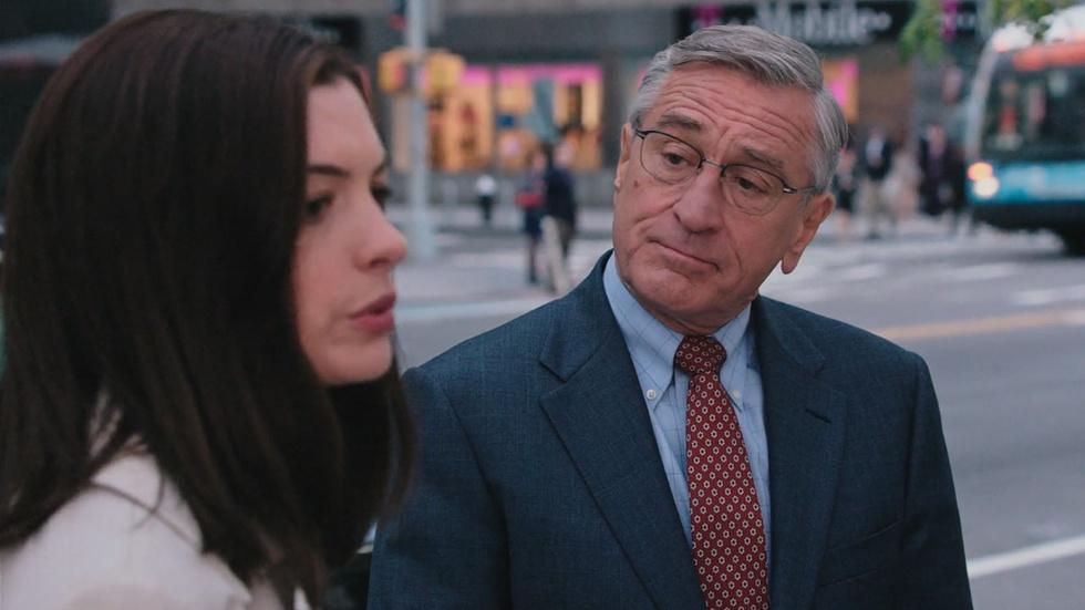 "Robert De Niro & Anne Hathaway for ""The Intern"" image"