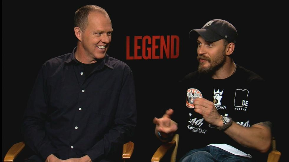 "Tom Hardy & the director of ""Legend"" image"