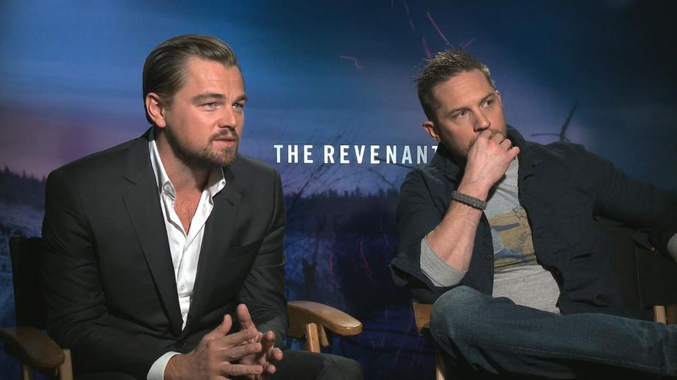 """Leonardo DiCaprio & Tom Hardy for """"The Revenant"""" image"""