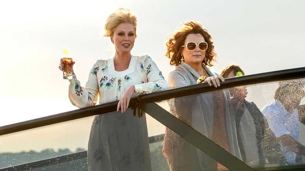 "Jennifer Saunders & Joanna Lumley for ""Absolutely Fabulous"" image"