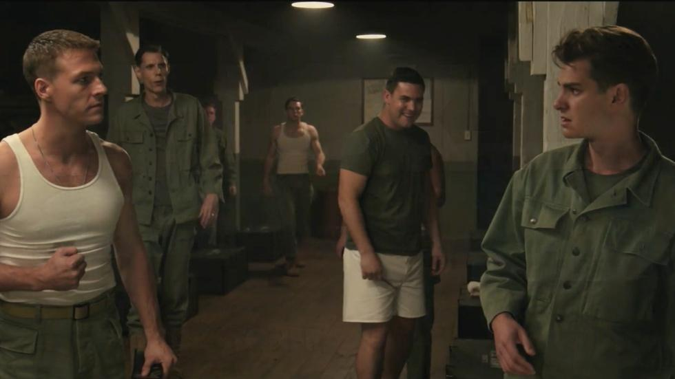 "Mel Gibson and Andrew Garfield for ""Hacksaw Ridge"" image"