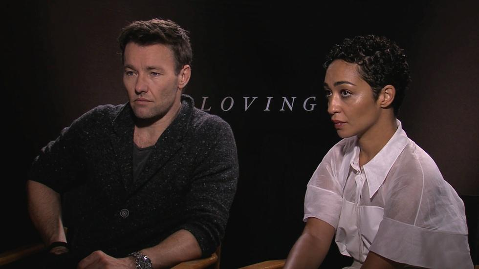 "Joel Edgerton and Ruth Negga for ""Loving"" image"