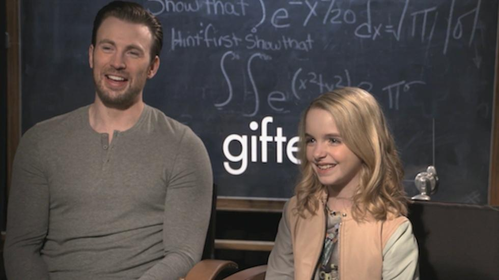 "Chris Evans and McKenna Grace for ""Gifted"" image"
