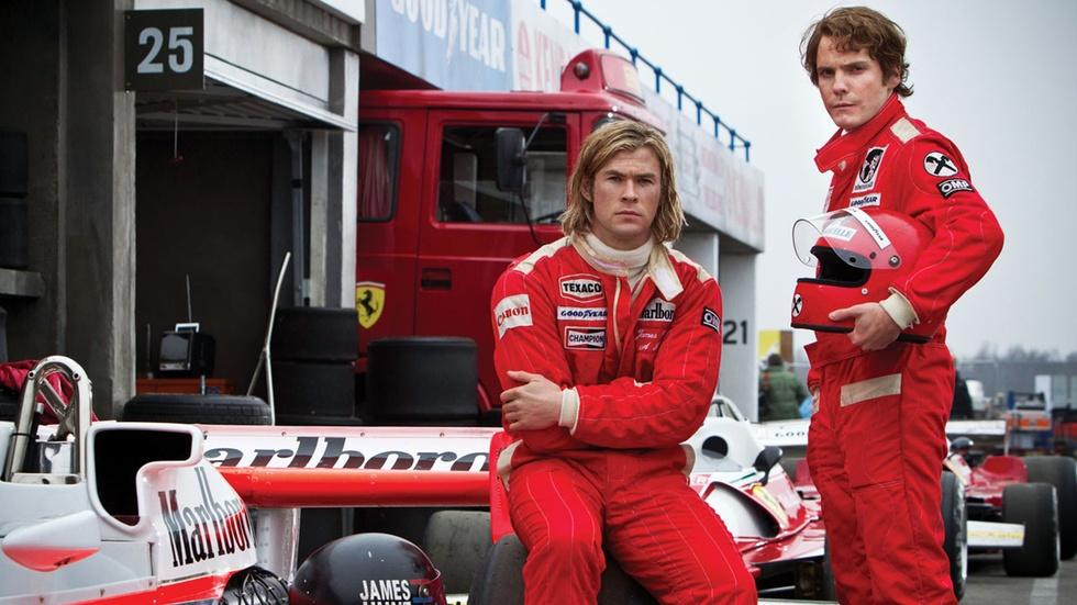 "Ron Howard and the stars of ""Rush"" image"